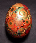 Coffee dyed painted egg
