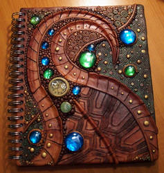 Turtle shell sketchbook cover by MandarinMoon