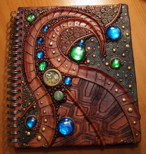 Turtle shell sketchbook cover