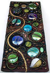 Tall Mosaic tile polymer clay