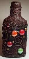 Polymer clay Decorated Flask