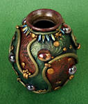 Chinese Red and Green Vase 2