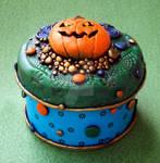 Jack-o-lantern Trinket Box Tin