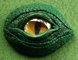 Dragon's Eye Wearable Art pin by MandarinMoon