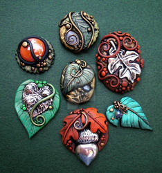 Fall Assorted Cabochons 2