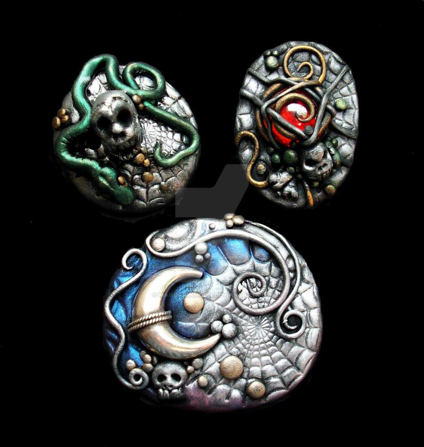 Halloween Polymer Clay Jewelry by MandarinMoon