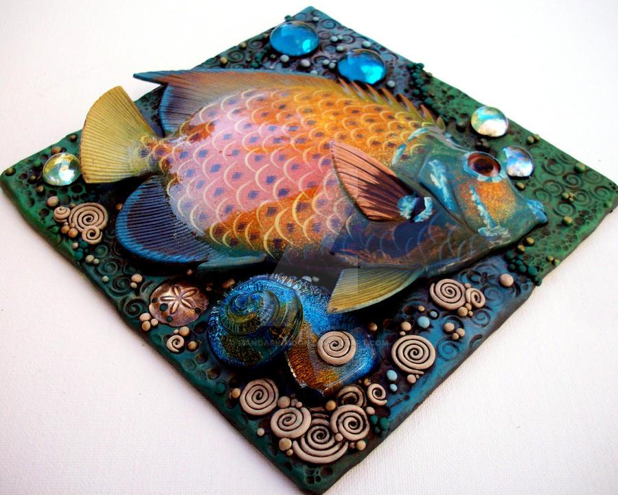 Tropical Fish Mosaic Tile 2 by MandarinMoon