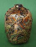 Gold Leaf Polymer Clay Vase