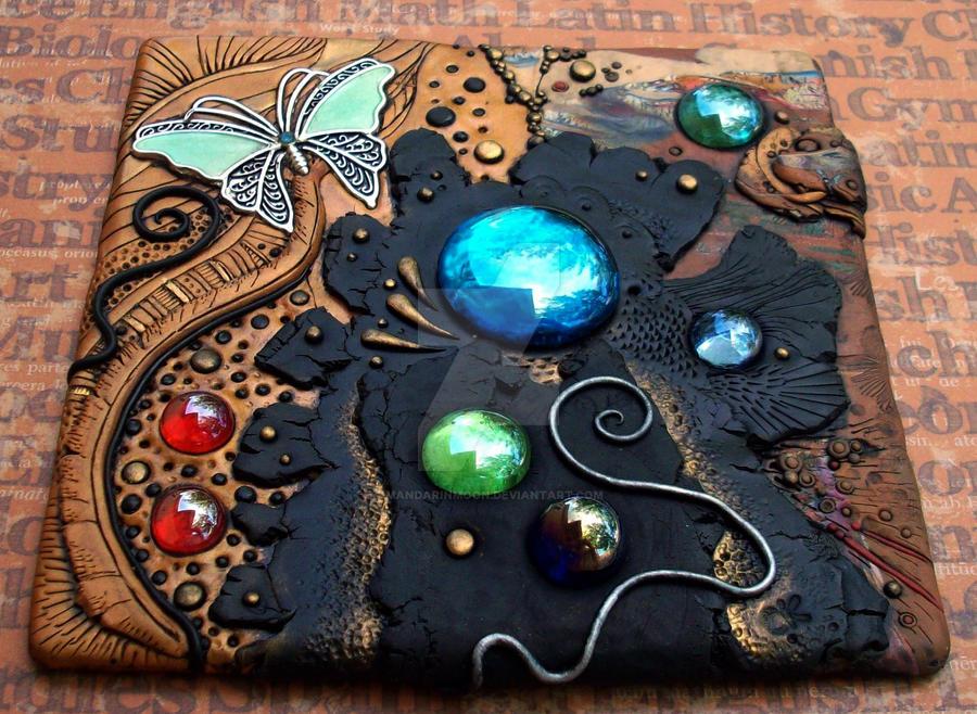 Spill Polymer Clay Mosaic Tile By Mandarinmoon On Deviantart