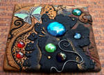 Spill Polymer Clay Mosaic Tile
