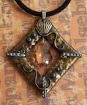 Amber Crystal Pendant