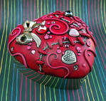 Sutured Heart Silver Box