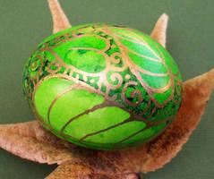 Batik Style Handpainted Egg