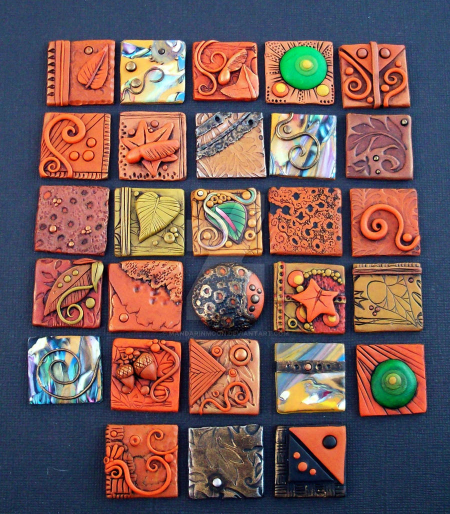 Polymer Clay Fall Inchies By Mandarinmoon On Deviantart