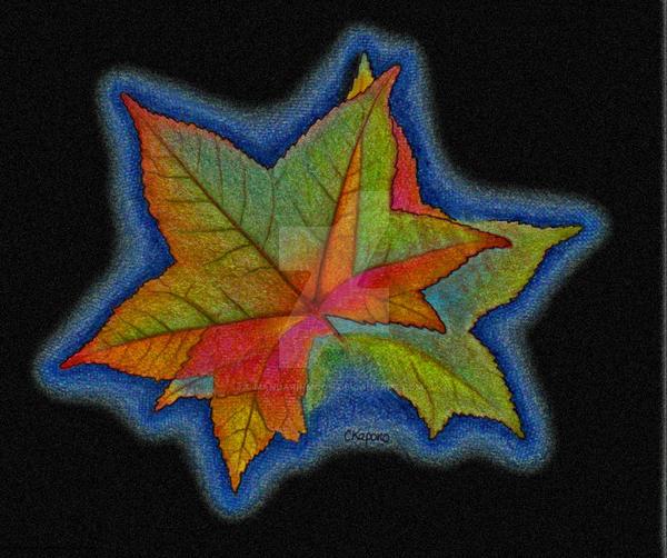 Maple Leaf Rubbing by MandarinMoon