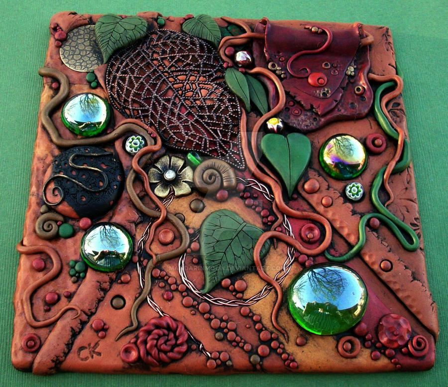 Forest Floor Polymer Clay Tile By Mandarinmoon On Deviantart