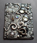 Starry Night ACEO clay
