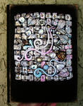 Customized Journal or Sketchbook Polymer clay