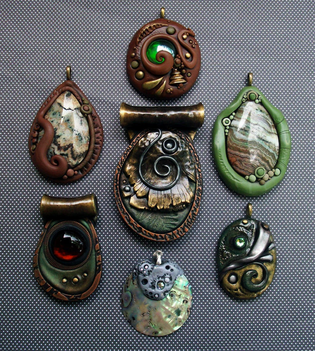 Polymer clay pendants natural group by mandarinmoon on deviantart polymer clay pendants natural group by mandarinmoon polymer clay pendants natural group by mandarinmoon aloadofball Images