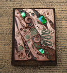 Custom Journal Cover in Copper and Umber