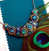 New Peacock Bubbles Necklace by MandarinMoon