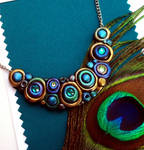 New Peacock Bubbles Necklace