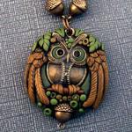 Owl Pendant Closeup
