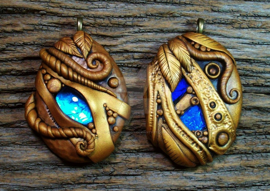 earthexpressions by in pendant polymer set art clay jewelry on forest deviantart