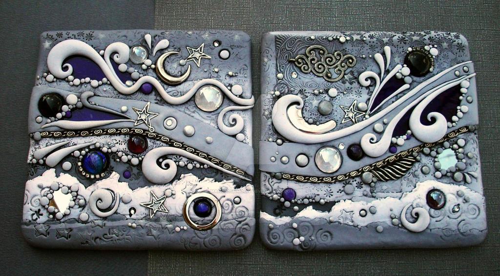 Celestial Tiles Dark Pair by MandarinMoon