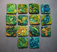 Textured Polymer Clay Inchies