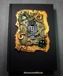 Custom Owl Journal Polymer Clay and Glass