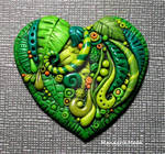 Polymer Clay Heart Enchanted Forest