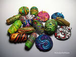 Assorted Polymer Clay Beads and Pendants