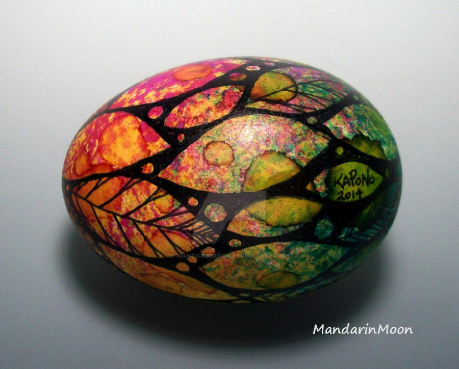 Watercolor Spring Duck Egg by MandarinMoon