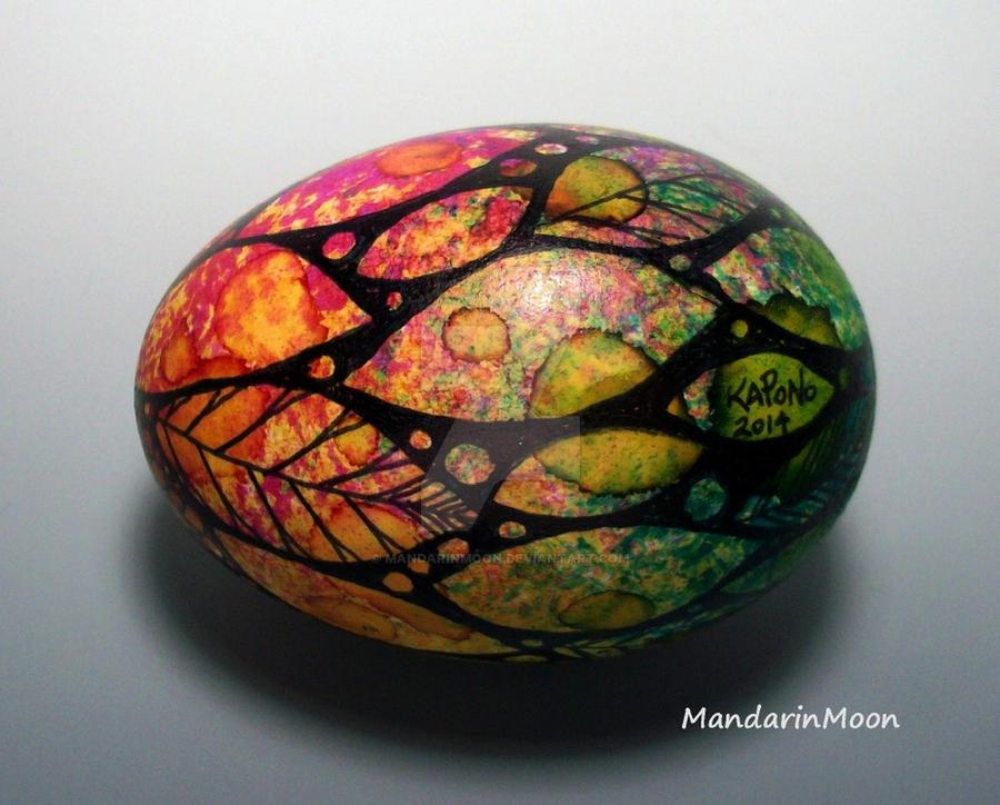 Watercolor Spring Duck Egg by MandarinMoon