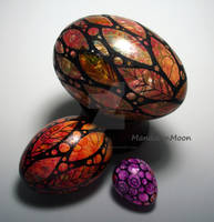 Three Painted Eggs