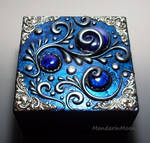 Custom Wood box with Polymer Clay Top