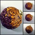 Purple and Gold Filigree Ornament