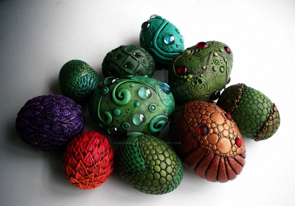 Dragon Eggs by MandarinMoon
