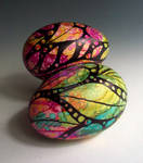 Painted Goose Eggs