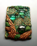 Polymer Clay ACEO Up in the Treetops