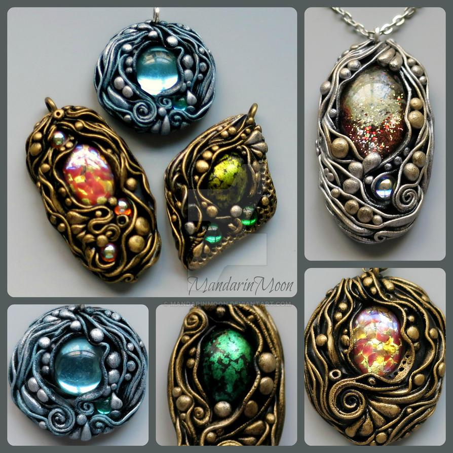 Two New Poseidon's Treasure Pendants by MandarinMoon