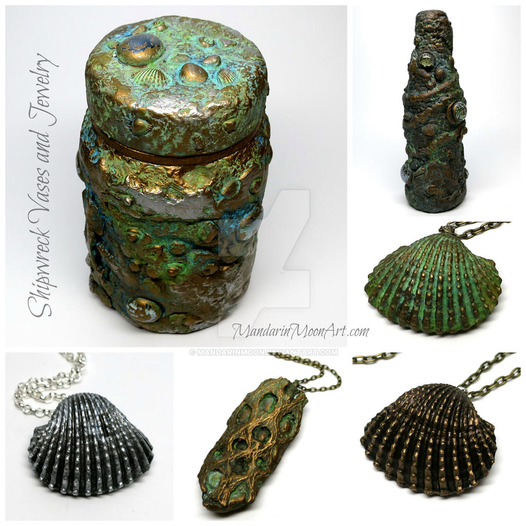Shipwrecked vases and jewelry