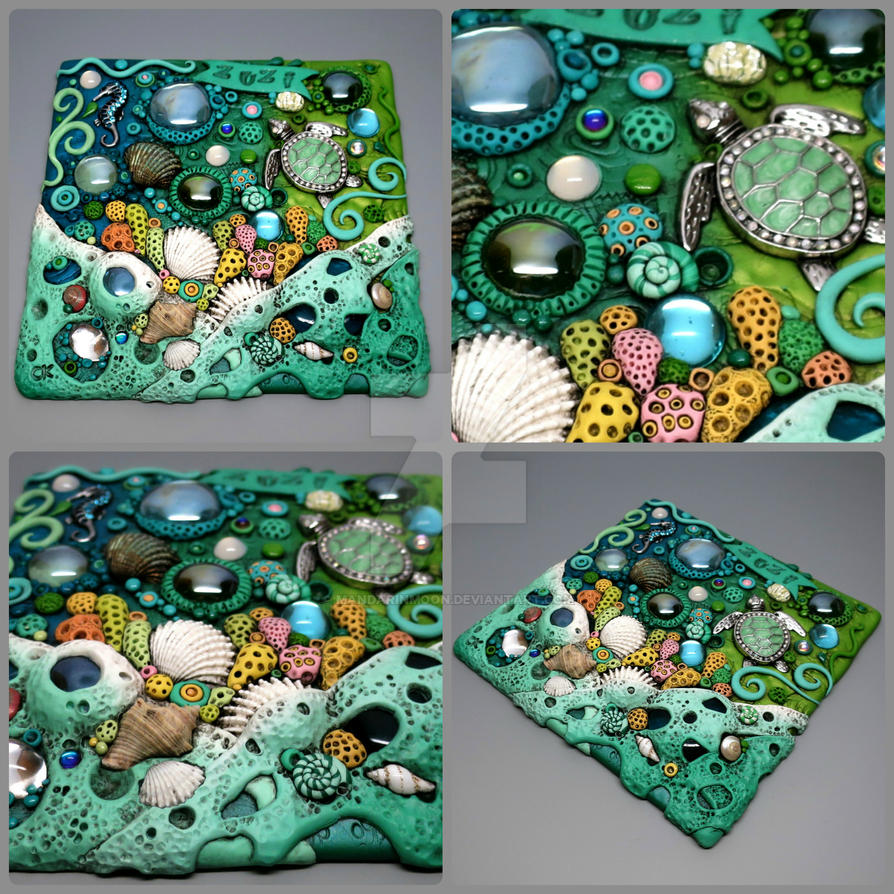 Custom Coral Reef Tile by MandarinMoon