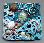 Sea Turtle Sun Catcher Tile