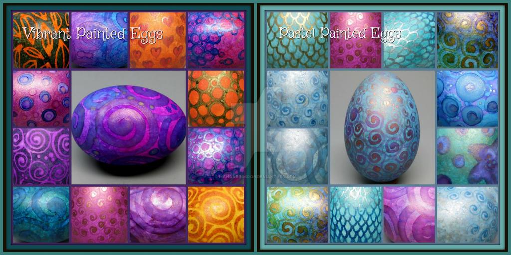 Hand Painted Eggs by MandarinMoon