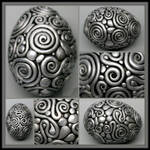 Silver filigree egg