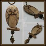 Owl on Branch Pendant