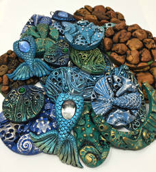 Various Polymer Clay Pendants