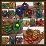 Handmade Polymer Clay Pendants for Jewelry Makers